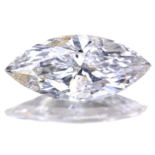 1.269ct G I1 マーキスカット ダイヤモンドルース※中央宝石研究所ソーティングシート付