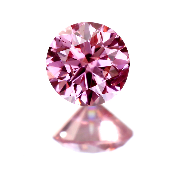 0.111ct Fancy VIVID Purplish Pink I1 ピンクダイヤモンド