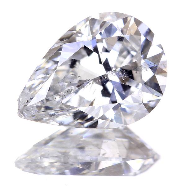 1.072ct G I1 ペアシェイプ ダイヤモンドルース※中央宝石研究所ソーティングシート付