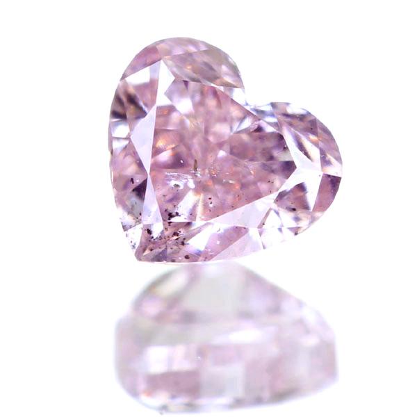 0.148ctFANCY PURPLISH PINK SI2 ハートシェイプ ピンクダイヤモンド