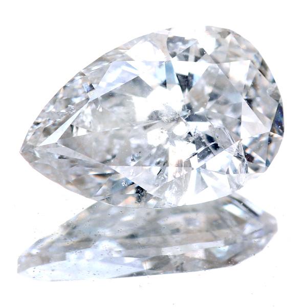 1.538ct I I1 ペアシェイプ ダイヤモンドルース※中央宝石研究所ソーティングシート付