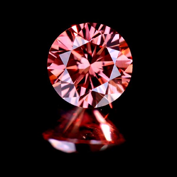0.156ct FANCY DEEP PINK SI1 ピンクダイヤモンド