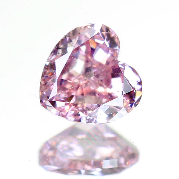 0.184ct FANCY PURPLISH PINK SI2 ハートシェイプ ピンクダイヤモンド