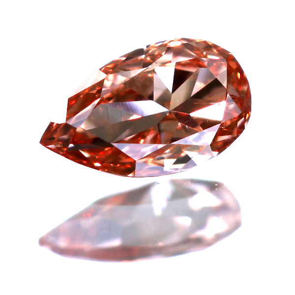 0.124ct Fancy Deep Orangy Pink VS-2 ダイヤモンド ルース