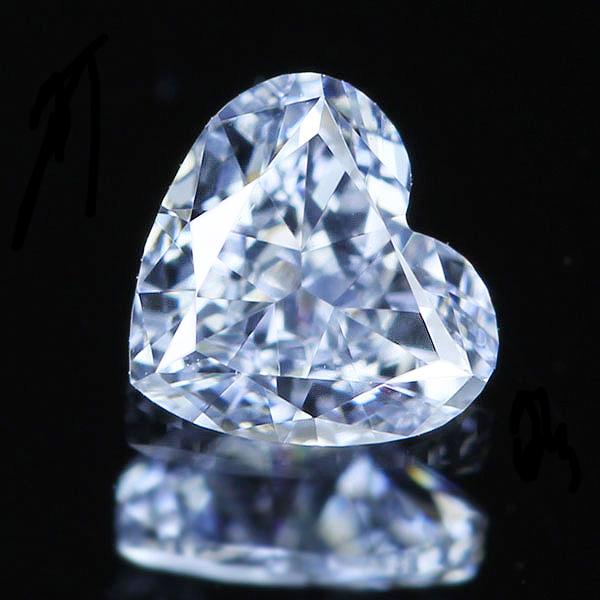 0.183ct FANCY BLUE VS1 TYPE2B ハートシェイプ ブルーダイヤモンド