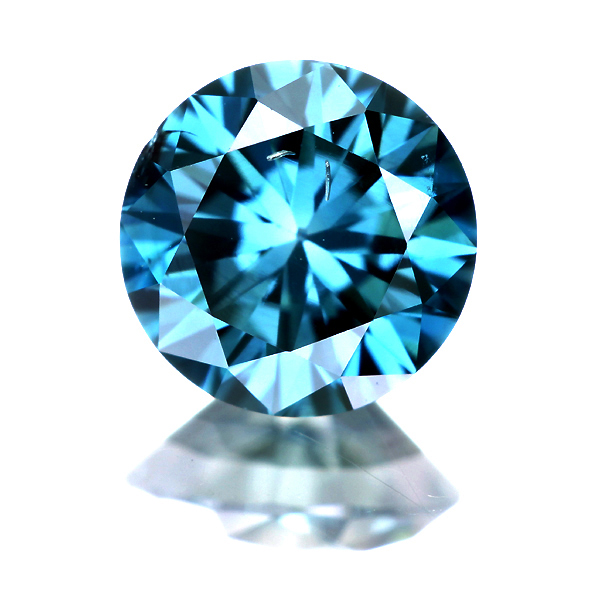 0.547ct Fancy Deep Green Blue SI2 ブルーダイヤモンドルース (※人為的照射)