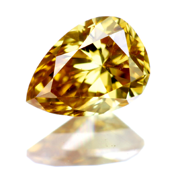0.216ct Fancy Deep Orangy Yellow SI2 ダイヤモンド ルース