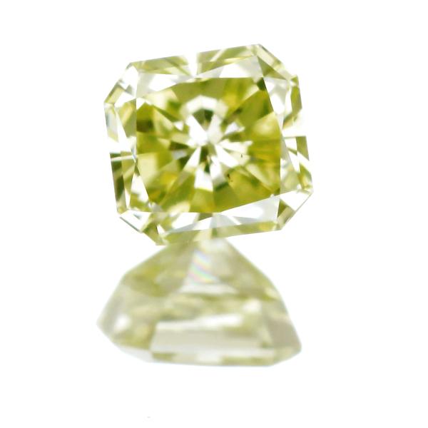 0.307ct Fancy Greenish Yellow VS2 ダイヤモンド ルース