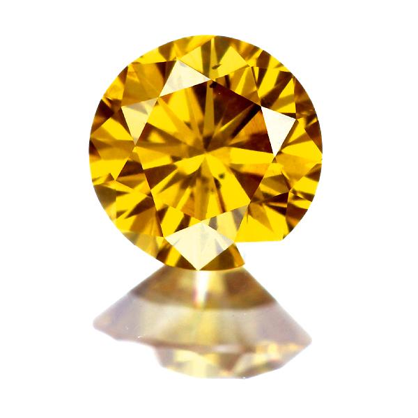 0.285ct FANCY VIVID ORANGY YELLOW I-1 イエローダイヤモンド ルース
