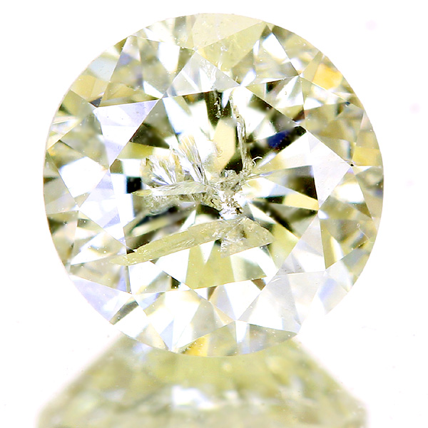 1.020ct VERY LIGHT YELLOW I2 FAIR イエローダイヤモンドルース※中央宝石研究所ソーティングシート付