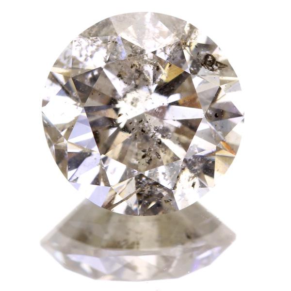 2.242ct LIGHT BROWN I2 GOOD ブラウンダイヤモンドルース※中央宝石研究所ソーティングシート付