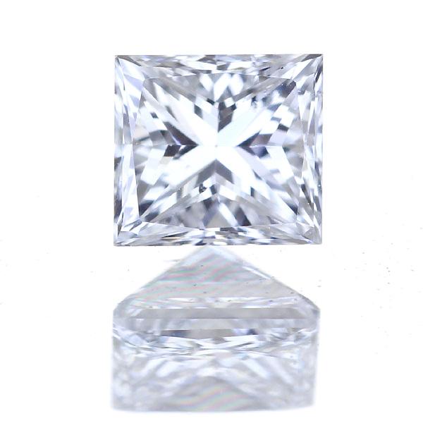 0.453ct F SI-1 プリンセスカット ダイヤモンド ルース※中央宝石研究所ソーティングシート付き