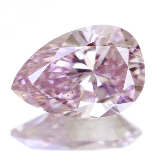 0.476ct FANCY PURPLISH PINK SI2 ペアシェイプ ピンクダイヤモンド