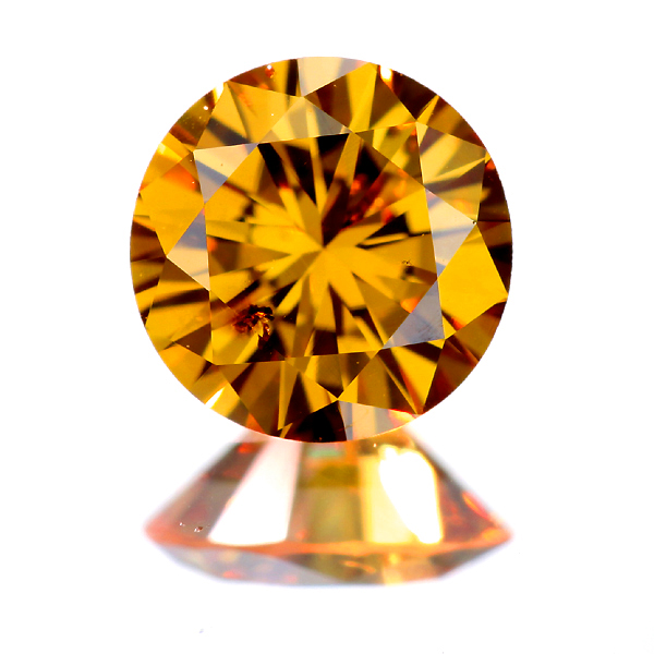 FANCY VIVID YELLOW ORANGE SI-2 オレンジダイヤモンド 0.436ct