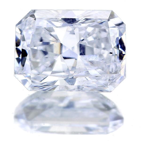 0.836ct E I1 ラディアントカット ダイヤモンドルース※中央宝石研究所ソーティングシート付