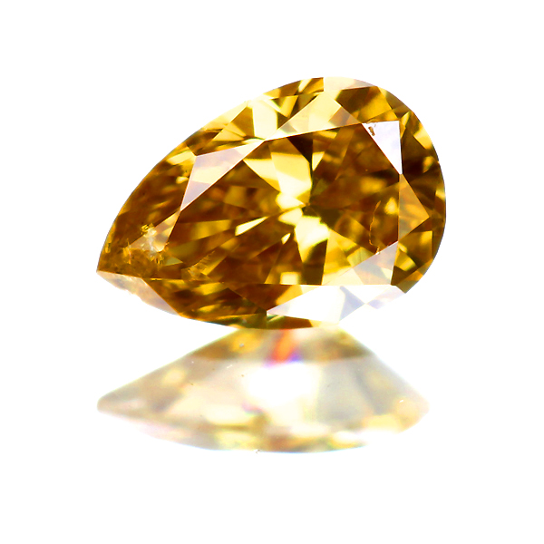 0.160ct Fancy Deep Orangy Yellow SI2 ダイヤモンド ルース