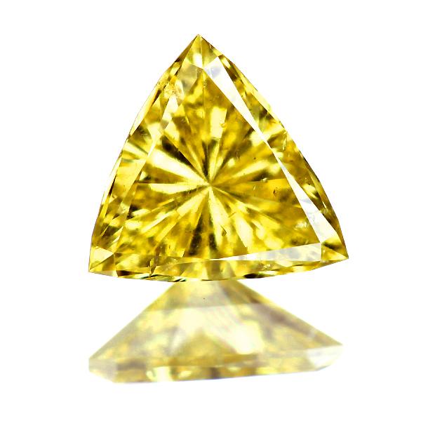 0.227ct Fancy Vivid Yellow SI2 ダイヤモンド ルース