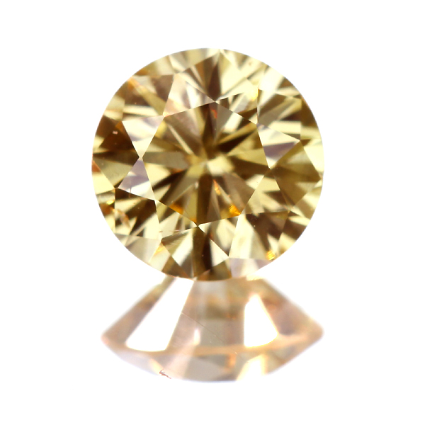 0.400ct FANCY ORANGY YELLOW SI-1 イエローダイヤモンド