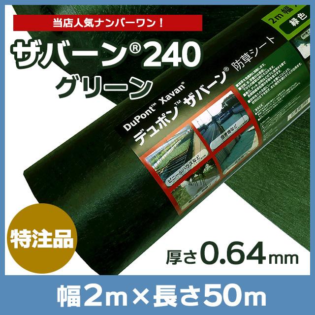 ザバーン240G(グリーン)2m×50m
