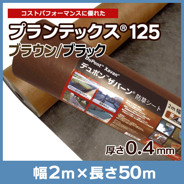 プランテックス(旧ザバーン)125BB(ブラウン/ブラック)2m×50m