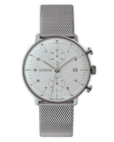 ユンハンス・マックスビル・クロノスコープ・メタルブレス027400344正規品 腕時計