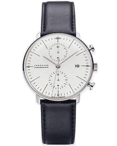 ユンハンス・マックスビル・クロノスコープ0274600正規品 腕時計