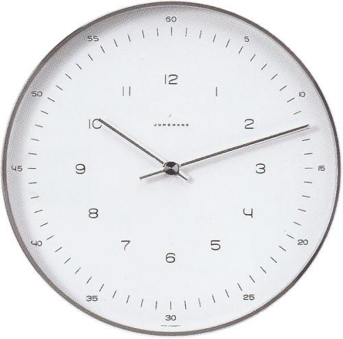 マックスビル掛時計/30cmヌメラルズ・ユンハンス367/6047正規品