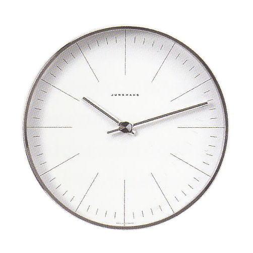 マックスビル掛時計/22cmアワーマーカー・ユンハンス367/6049正規品