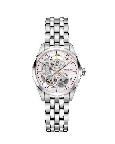 ハミルトン・ジャズマスター・スケルトンレディ(ピンクダイヤル) H32405181 正規品 腕時計
