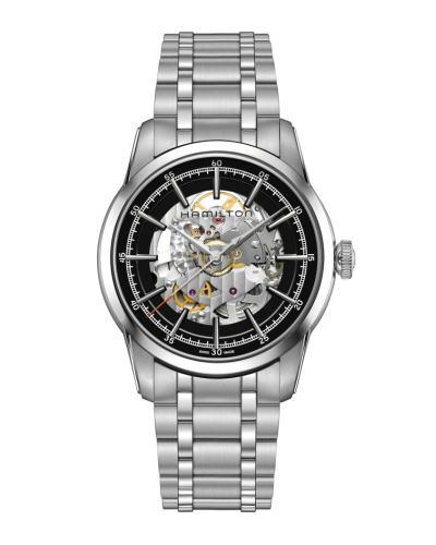 ハミルトン・レイルロード スケルトン H40655131 正規品 腕時計