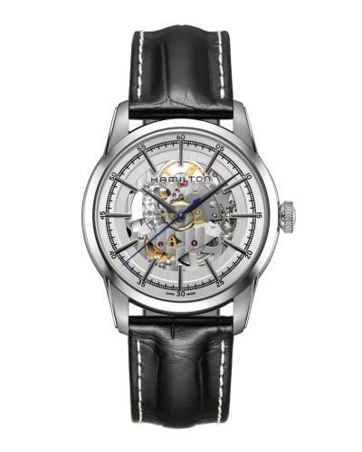 ハミルトン・レイルロード スケルトン H40655751 正規品 腕時計