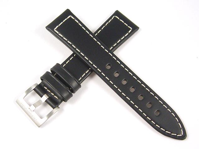 ハミルトン純正ベルト20mm/カーキフィールドオート38mm用ブラックカーフベルトH600704110