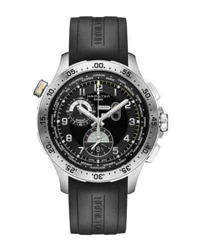 ハミルトン カーキ クロノ ワールドタイマー H76714335正規品 腕時計