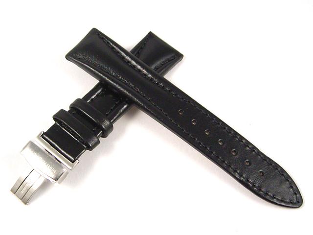 ハミルトン純正ベルト20mm/ロイドクロノ用ブラックカーフベルトH600194101