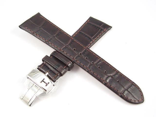 ハミルトン純正ベルト21mm/ベンチュラオート専用・ブラウンプレスカーフH600245101