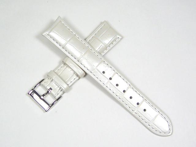 ハミルトン純正ベルト18mm/ジャズマスターレディオート用ホワイト型押しベルトH600324111