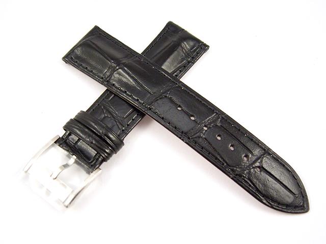 ハミルトン純正ベルト22mm/ジャズマスターオートクロノ用ブラックカーフベルトH600325116