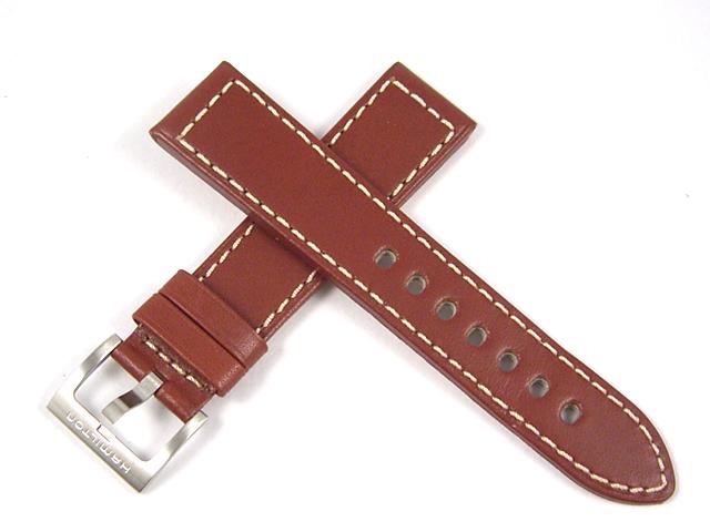 ハミルトン純正ベルト20mm/カーキキング、カーキフィールド用ブラウンカーフベルトH600704104