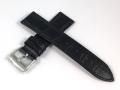 ハミルトン純正ベルト22mm/ジャズマスターシンラインクロノ用ブラックカーフベルトH600385100