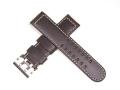 ハミルトン純正ベルト/22mmカーキパイロットオート46mm用ダークブラウンカーフベルトH600647101