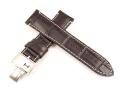 ハミルトン純正ベルト22mm/レイルロードオートクロノ用ダークブラウンプレスカーフベルトH600406103