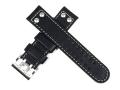 ハミルトン純正ベルト22mm/カーキオフィサーオート用ブラックカーフベルトH600706100
