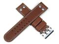 ハミルトン純正ベルト22mm/カーキエックスウインド用ブラウンカーフベルトH600776103
