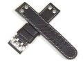 ハミルトン純正ベルト22mm/カーキエックスウインド用ダークブラウンカーフベルトH600776104