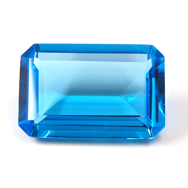 ブルートパーズ ルース 41.43ct 【 エメラルドカットの深いブルーです。9月29日・11月19日誕生日石 11月の誕生石 】 送料無料