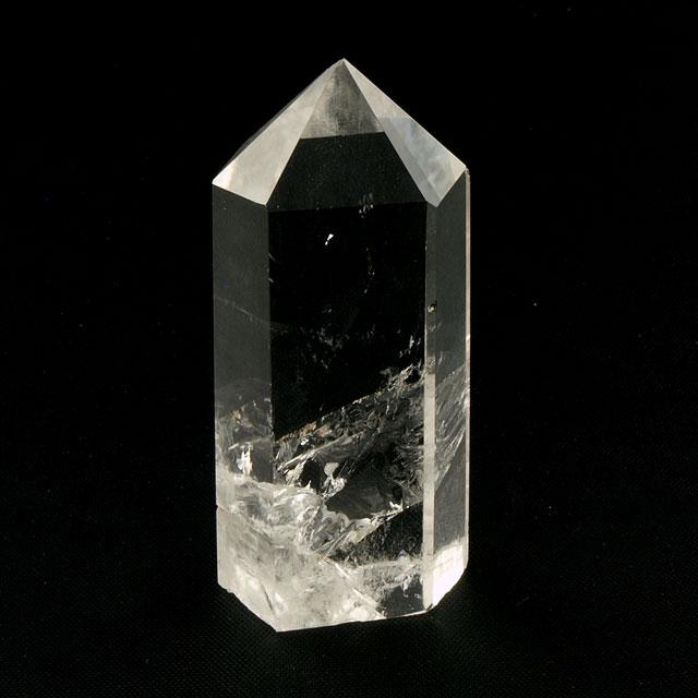 水晶 ポイント 【 ロック・クリスタル : 7月3日の誕生日石 】 六角柱状 クリスタル・クォーツ 約67.2g