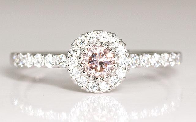 ピンクダイヤモンド指輪プラチナ