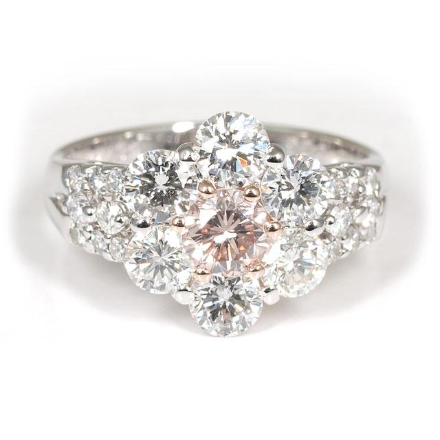 【 限定一点 】 天然ピンクダイヤモンド リング(指輪) 0.432ct Pt900 ( プラチナ900 ) 【 送料無料 】