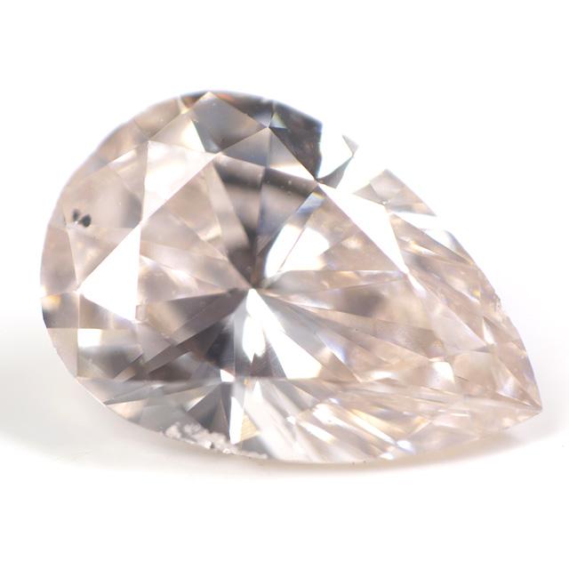 天然ピンクダイヤモンド ルース 0.356ct, Light Orangy Pink, SI-1 【タイプ2-a型のレア・ピンク・ダイヤモンド】 【 中央宝石研究所 】 【 送料無料 】