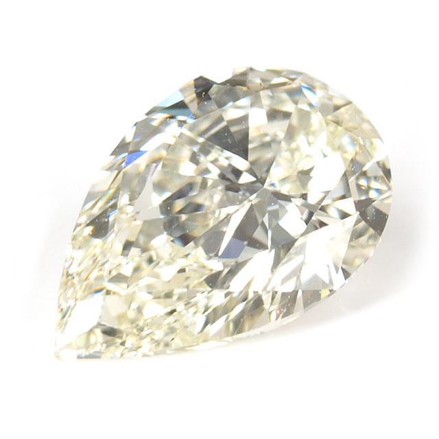 天然イエローダイヤモンド ルース(裸石) 1.20ct(1.199ct), Nカラー, VS1, ペアシェイプ 【GIA,AGT】